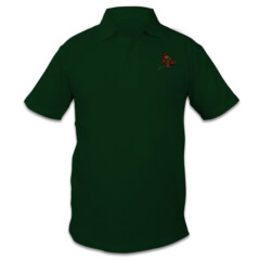 Mens Polo - Red Admiral (White Font)